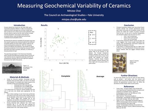 Measuring Geochemical Variability of Ceramics